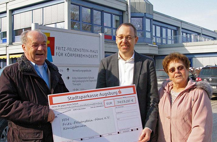 Selbsthilfeverein spendet Vereinsvermögen an Fritz-Felsenstein-Haus